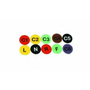 Set of 10 colour-coded labels for Strassle Electrodes